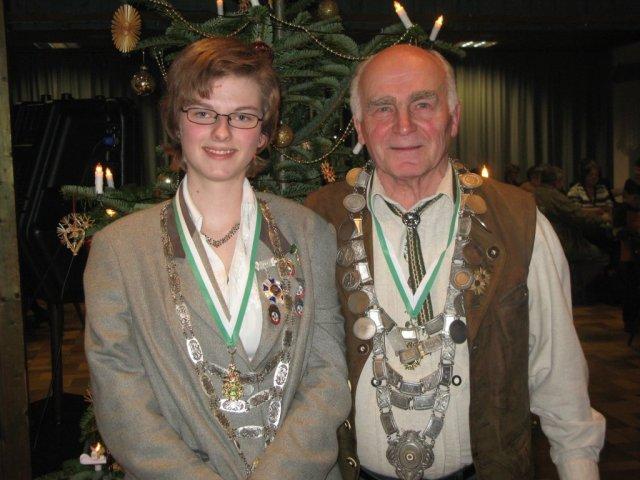 Königspaar 2009: Carolin Mende und Josef Kny