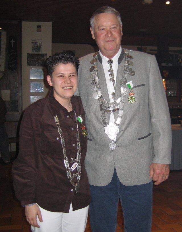 Königspaar 2005: Bettina Weber und Pepi Zenz