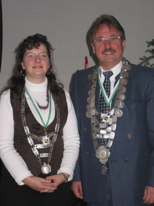 Königspaar 2007: Ulla Mende und Werner Grimm