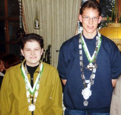 Königspaar 2001: Bettina Weber und Nils Würdinger